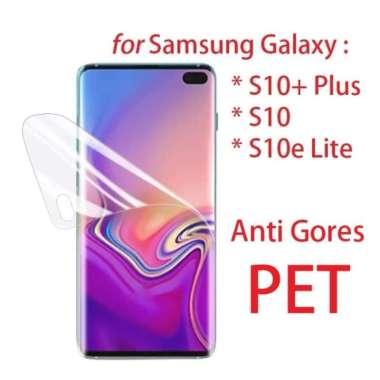 harga Unik Front Back PET Screen Guard - Galaxy S10  S10  S10e  S10 Plus Lite - S10e Diskon Blibli.com