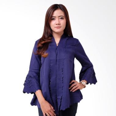 Batik Distro BA9088 Encim Polos Kebaya Wanita - Biru