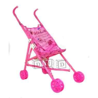 harga Mainan Anak - Stroller Bayi Dorongan Boneka Kereta Dorong Lipat Pink Blibli.com
