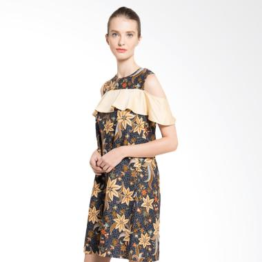 Rianty Batik Clarita Dress Wanita - Black