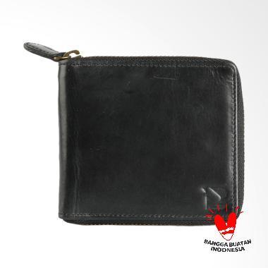 BLANKENHEIM Original Leather Dompet Pria Resleting - Black
