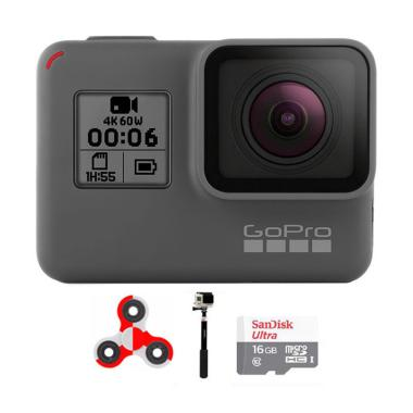 GoPro Hero 6 Combo Supreme 16 GB SpinIndo Action Camera - Black