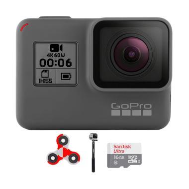 GoPro Hero 6 Combo Attanta Supreme  ... ndo Action Camera - Black