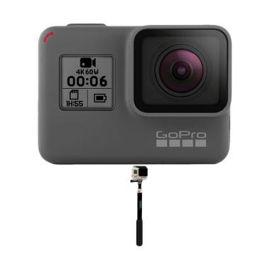 GoPro Hero 6 Tongsis Action Camera - Black