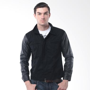 Crows Denim Korean Style Comby Jaket Kulit Pria