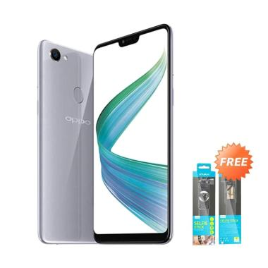 OPPO F7 Smartphone - Silver [64GB/4GB] + Free Tongsis Vivan