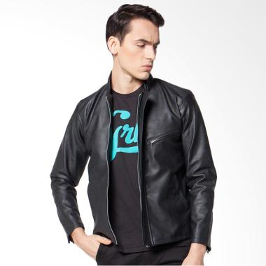 Crows Denim Style Exclusive Jaket Kulit Biker Pria