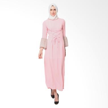 Heart and Feel Muslim 3053.D Gamis Wanita - Pink