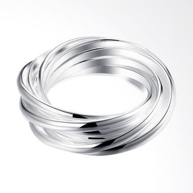 Bella & Co Unique Ring SPCR007-8 Aksesoris Cincin Lapis Silver