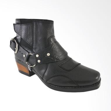 CBR Six Sepatu Boot Pria - Hitam [NEC 432]