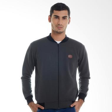 Brain Clothing MOSS Bomber Jacket Pria - Grey