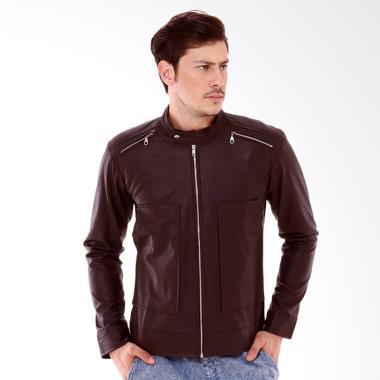 Crows Denim Exclusive Style Jaket Kulit Pria - Brown