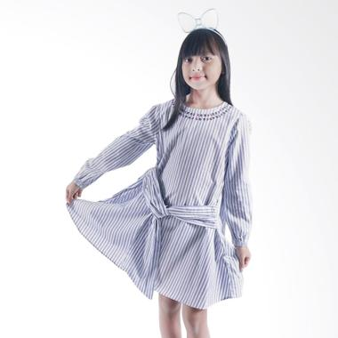 Kids Icon Dress with Bow dan Embro Detail Dress Anak Perempuan
