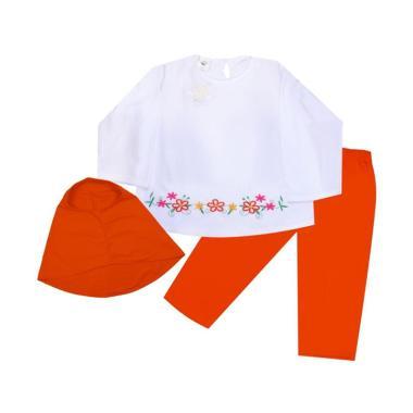MacBear Aisyah Setelan Hijab Baju Anak - Orange