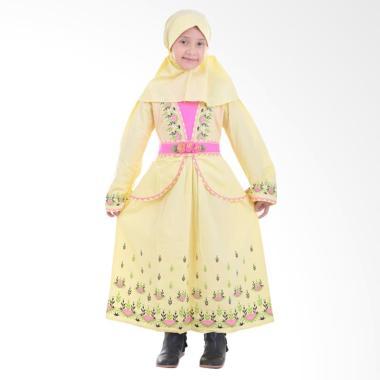 Jesca and Paul Phelia 215 Gamis Baju Muslim Anak - Yellow