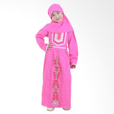 Jesca and Paul Nissa 228 Baju Muslim Anak - Magenta