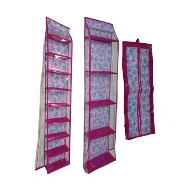 Angentyas Shoe Rack Paket Organizer - Pink