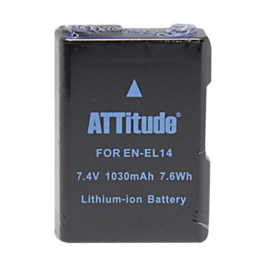 ATTitude EN-EL14 Battery Pack for Nikon D3100 D3200 .
