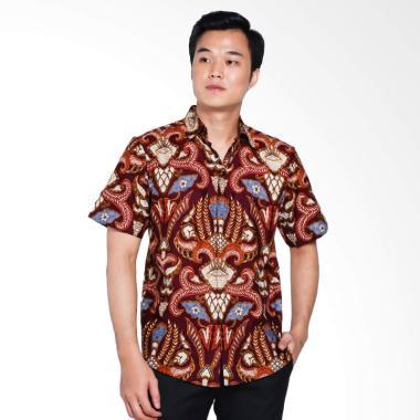 Batik Arjunaweda Men Hem Batik Pisa ... k Pria - Merah [53078038]