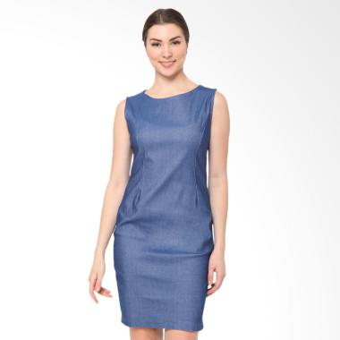 Blanik Edia Sleeveless Sheath Mini Dress - Denim Blue