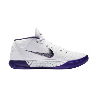 Nike Kobe AD White Sepatu Basket Pria - Purple