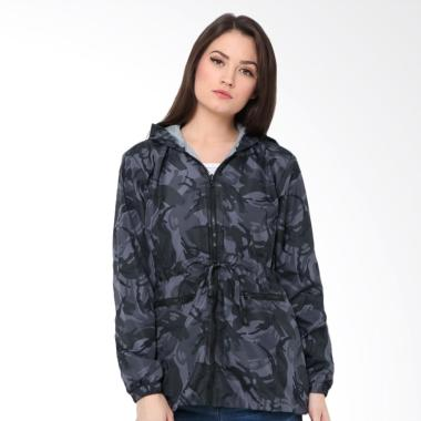 Evio 544 Jacket Parka Wanita - Grey Camo