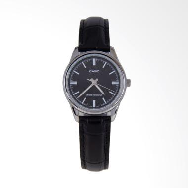 CASIO LTP-V005L-1B Standard Strap Leather Jam Tangan Wanita - Black