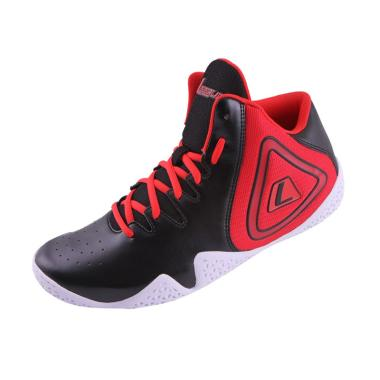 League Fundamental Sepatu Basket Unisex - Black Red