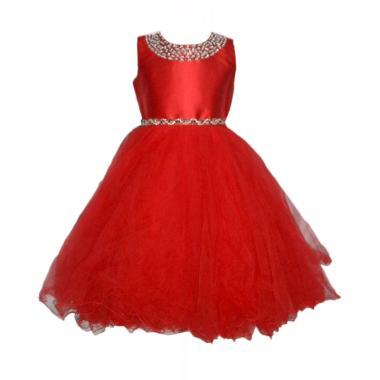 VERINA BABY Tutu Variasi Sequin Dress Pesta Anak - Merah