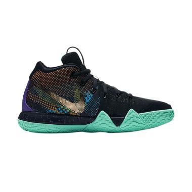 NIKE Kyrie 4 GS Sepatu Basket Pria - Black Green