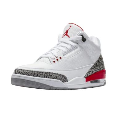 NIKE Men Air Jordan 3 Katrina Hall  ... Pria - White [136064-116]