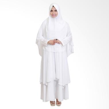 SYAHEERA Fathimah Dress Muslim Syar'i Gamis - Putih