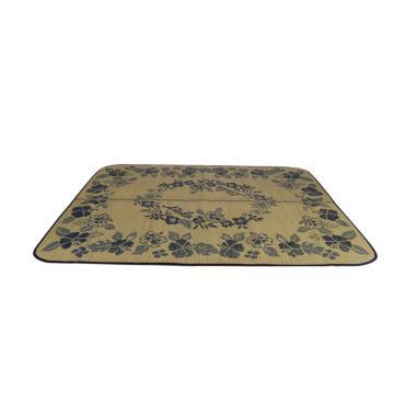 Hagihara Igusa Motif Bunga Melingkar Karpet - Biru