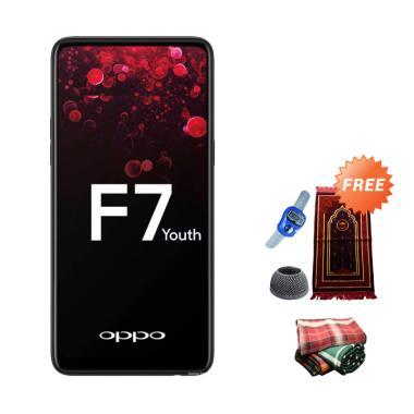 OPPO F7 Youth Smartphone - Black [64GB/ 4GB] + Free Paket Sholat Pria
