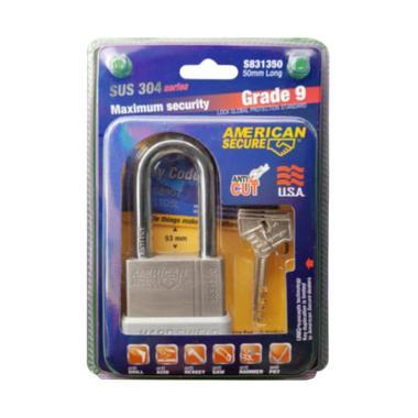 American Tool Secure 50 mm Long Grade 9 SUS 304 Series Gembok Panjang