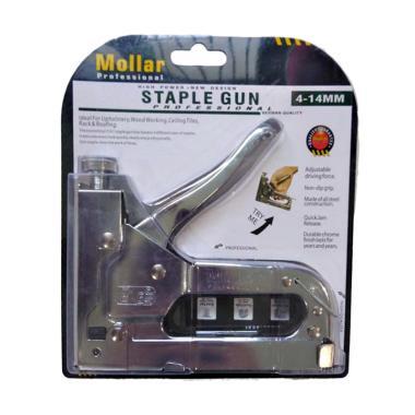 Mollar Staples Gun Serbaguna - Perak + Hekter Isi Staples 3in1