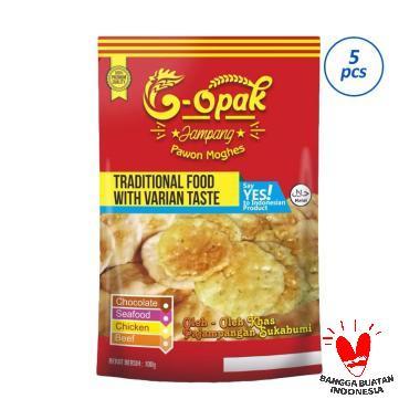 G-opak Pawon Moghes Rasa Daging Sapi Makanan Ringan [5x100g]