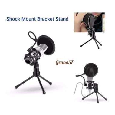 harga Jual stand microphone mini tripod pop filter shockproof shock mount mikrofo Murah Blibli.com