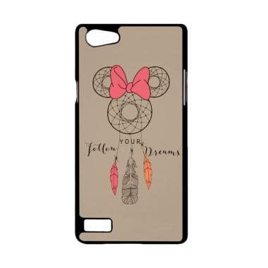 Bunnycase Minnie Follow Your Dreams Dreamcather L0083 Custom Hardcase Casing for OPPO Neo 7 or A33