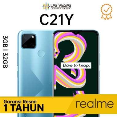 harga Realme C21Y Smartphone [32GB/3GB] Cross Blue Blibli.com