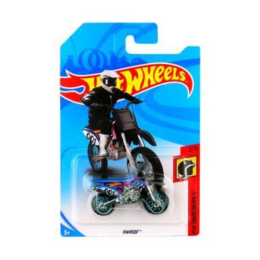 Hot Wheels HW450F Diecast warna kuning biru