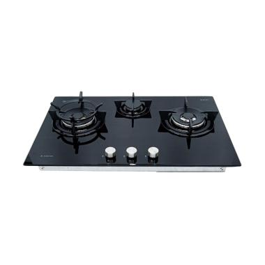 Ariston DD 763 2W1/A High Power Gas Hob Kompor Tanam - Black [76 cm]