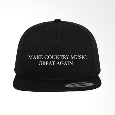 Jersi Clothing Make Country Music G ... napback Topi Pria - Hitam