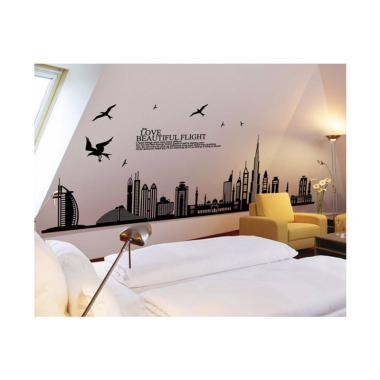 Wallsticker Stiker Dinding Motif Tumbuhan 60x90 - Multicolor. Source · OEM Dubai City Wall Sticker Dekorasi Dinding [60 x 90 cm]