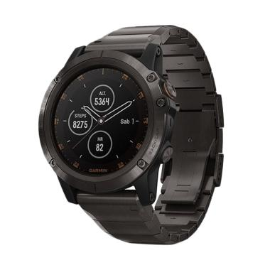 Garmin Fenix 5 Plus Smartwatch - Carbon Gray DLC Titanium with DLC Titanium Band