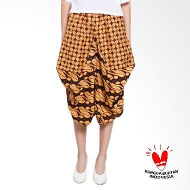 GESYAL Serut Celana Bali kulot pendek batik coklat