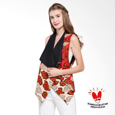 GESYAL Outer variasi manik Batik Pr ... t reversible  merah hitam