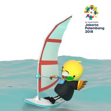 Asian Games 2018 Sailing E-Ticket [ ... col Beach Sailing Marina]