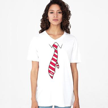 Nakedlily Dasi Red T-Shirt Wanita - White