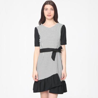 Heart and Feel 1401.D Vintage Dress - Black Broken White